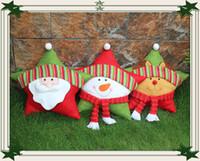 Wholesale beautiful wool - 2016 beautiful Christmas Pentagram pillow cute Santa Claus pillow christmas gift three style home decorates furnishing articles