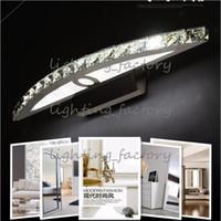 ingrosso specchio di cristallo moderno-cristallo led luci a specchio 9w parete anteriore del bagno specchio di montaggio camera da letto di vanità lampada moderna led wandleuchte kristall applique
