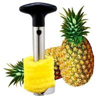 çok dilimleme makinesi toptan satış-DHL Yaratıcı Paslanmaz Çelik Meyve Ananas Tart Ananas Dilimleme Mutfak Aletleri Ananas Soyucu Parer Bıçak 50 adet