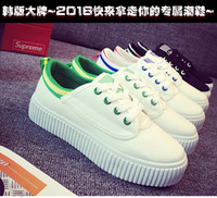 Wholesale Wholesale Wind Shoes - Korean female students to help low canvas shoes sports shoes College wind lace flat shoes with white shoes breathable