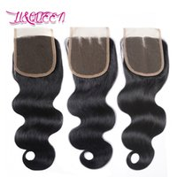 Wholesale Queens Peruvian Hair - Body Wave Top Closures Brazilian Virgin Hair Closure Natural Color Brazilian Body Wave Queen Lace Closure