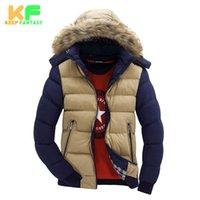 Wholesale Puffer Jacket Fur Hood - Wholesale- Winter Jacket Men Parka Man's Down Coat Outwear Warm Puffer Windproof Jackets For Male Brand-Cloting Veste Homme Hiver MDP1511