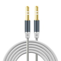 Wholesale Gold Plated Audio Jack - Newest design 3.5mm Jack Audio Cable Gold Plated Jack 3.5 mm Male to Male TPE Audio AUX Extension Cable For iPhone Car Headphone Speaker
