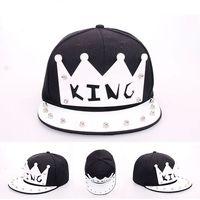 snapbacks de letras acrílicas al por mayor-Nueva venta caliente Crystal acrílico carta King snapback caps para mujeres hombres popular marca unisex hip hop gorra de béisbol snapbacks sombreros