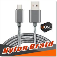 universalgerät ladegerät großhandel-USB-Typ-C-Kabel USB-Typ C zu Typ A Metallgehäuse Geflochtene langlebige Verzinnen High-Speed-Ladegerät Micro-USB-Kabel für Android Typ-C-Geräte