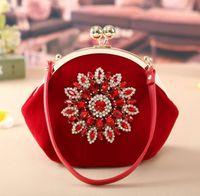 Wholesale ladies handbag suede online - Fashion Retro Suede Clutch Leather cosmetic Bag Women Small Messenger Bag Causal Lady CrossBody Handbag
