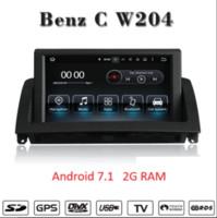 jogador mercedes venda por atacado-Octa Núcleo Android9.0 4G RAM 32G ROM dvd do carro de navegação estéreo Para Mercedes Benz C W204 C200 2007-2011 suporte Wi-fi GPS BT Rádio Mirrolink