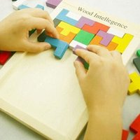 Wholesale brain baby resale online - Wooden Quality Tangram Brain Teaser Puzzle Tetris Preschool Magination Child Wood Intellegence Toy Best Gift For Baby