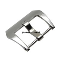 Wholesale 26mm Panerai - 18mm 20mm 22 mm 24mm 26mm new high quality stainless steel polished solid bands pin buckle strap belt clasps For PANWATCH