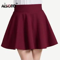 mini falda coreana chicas al por mayor-Al por mayor-Nuevo 2017 Estilo de verano falda sexy para la muchacha de la señora coreana del cortocircuito de la moda femenina mini falda de la Mujer Ropa Bottoms