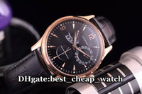 Wholesale Automatic Multifunction Watches - Cheap Luxury Brand Mens Watch Q1378420 1378420 Automatic Multifunction Mens Watch Rose Gold Black Dial Leather Strap Classic Best Watch JL02