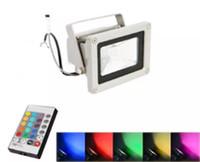outdoor led lights change color toptan satış-Açık 10 W 20 W 30 W 50 W 100 W Su Geçirmez IP65 LED Sel Işık RGB Renk Değiştirme Duvar Yıkama Lambası LED Aydınlatma + 24Key IR Uzaktan Kumanda
