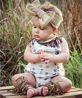Wholesale Girls Floral Jumpsuits - 2016 Infant Baby Girls Floral tassel Rompers Babies Princess Cotton Jumpsuits Toddler Autumn Christmas Romper Bebe Clothes
