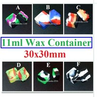 Wholesale Cheapest Jars - Cheapest Top Quality silicone wax container silicone jar 11ml container square wax Container for wax 30mmX30mm dab wax Silicone container