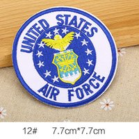 Selo militar Estados Unidos Air Force Round Insignia Iron on Patch bordado Gift camisa saco calças casaco Vest Individualidade