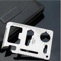 açık kart bıçağı toptan satış-LargeDHL veya Fedex Ücretsiz kargo çok fonksiyonlu evrensel bıçak kartı aracı açık kamp hayat kurtaran kart 30g-500 adet