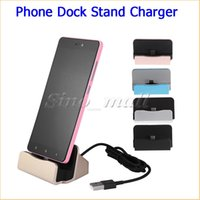 Wholesale Dock Interface - Mobile Phone Charge Sync Dock Stand For Type C Male Interface Port For Letv Oneplus2 Nokia N1 Macbook With Retail Box