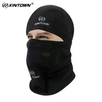 Wholesale Face Mask Winter Running - Wholesale- Seperable Winter Bike Mask Cycling Cap Neck Face Warmers Running Skiing Outdoor Sport Windproof Thermal Fleece Bicycle Face Mask