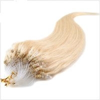 Wholesale Mirco Hair Extensions - Queen hair products mirco ring loop hair extensions 100g pack indian human hair #60 blond