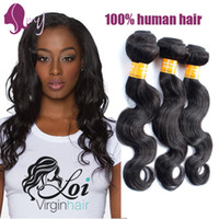 Wholesale Bresilien Hair - Raw Indian Hair 3 Bundles Hair Products Indian Body Wave Cheveux Bresilien Natural Silver Human Hair Extensions Tangle Free