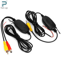 Wholesale Auto Dvd Monitor - 2.4GHZ Wireless RCA Car Video Transmitter Receiver Kit for Auto DVD MP5 Player Monitor WIFI Rear View Camera Reverse Backup
