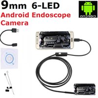 Wholesale Borescope 2m - 9mm Android Smartphone Endoscope USB Borescope 1M 1.5M 2M 3M 5M Cable 2 Million Pixel Waterproof Inspection Snake Camera for Android System