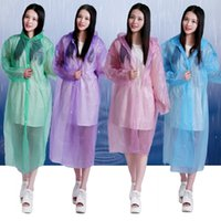 Wholesale Travel Emergency Poncho - 200pcs Disposable Raincoat Adult Emergency Waterproof Hood Poncho Travel Camping Must Rain Coat Unisex Wholesale ZA0721