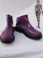 All'ingrosso-Freeshipping The Money of Soul e possibilità di controllo Masakaki viola brevi Cosplay Boots scarpe # 57812 per Halloween Natale