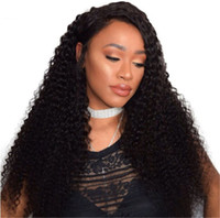 Wholesale African American Baby Hairstyles - Deep Wave Full Lace Wigs with Baby Hair Virgin Malaysian Hair Lace Front Human Hair for African American G-EASY