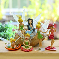 Wholesale Diy Garden Gift - Cute 6pcs set dolls fairy garden miniatures mini gnomes moss terrariums resin crafts figurines for diy garden decoration gift