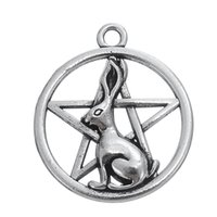 Wholesale Bunny Charm Bracelet - My Shape Pendant Jewelry Series Bunny Rabbit Pentagram Pendant Charms For Neckalces Bracelets Earrings for Man and Woman