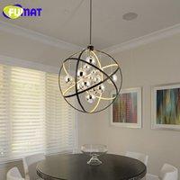 FUMAT Nordic Wohnzimmer Lampe Runde Chrom Blle Glas Esszimmer Licht Moderne Pendelleuchte LED Kunst Bar Hngelampen