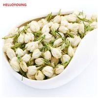 flores de chá venda por atacado-Preferência 50g Saúde Tea Raw chá verde orgânico chinesa Early Spring Blooming Jasmine Flower New Spring Green Tea Alimentos