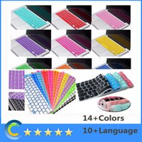 Waterproof Silicone For Apple Keyboard Macbook 13 15 17 Spanish German Russian Danish Swedish Rubber Silicone Keyboard Cover for Apple Macbook Air Pro Retina 13''15'' 17'' 14 Colors EU US Layout
