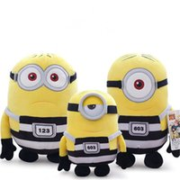 171217 New Arrival 2pcs Hot Selling Minions Desprezível eu Kevin Stuart Bob Stuffed Animals Brinquedos de peluches Birthday Gift Action Figure