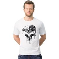 Wholesale Long Sleeve Skeleton Shirt - Fashion Streetwear Men Hip Hop Skeleton T-Shirts 100% Cotton Casual 2-2XL T Shirt Harajuku Crossfit Tops Skull tshirt TX147 RFF