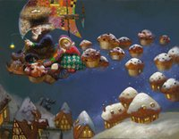 Victor Nizovtsev Art HD Prints pintura a óleo Decoração do quarto infantil Wall Picture best Christmas gift Fairy tale world Home Decor NVN27