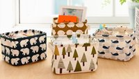 Wholesale Eco Bags Linen - New Arrive Desk Storage Box Holder Jewelry Cosmetic Stationery Organizer Case Linen