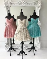 Wholesale Cute Maternity Wear - Cute Lace Homecoming Dresses 2k17 Famous Designer Sweetheart Neck Simple Sweet 16 Dress Real Image Short Formal Event Wear Gown