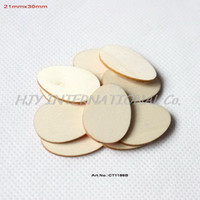 "Wholesale Wooden Ornaments Bulk - (150pcs lot) 30mm Easter Egg Ornaments Natural Rustic Facvor Wooden Eggs Bulk 1.2"" -CT1186B"