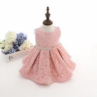 Wholesale Baby Dress Free Ems - EMS DHL Free Latest set of one year old baby girl baptism dress princess wedding vestidos tutu 2016 baby girl christening gown with hat
