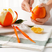 Wholesale New Plastic Kitchen - 2016 new 15cm Long section Orange or Citrus Peeler Fruit Zesters Compact and practical kitchen tool