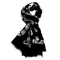 Wholesale Soft Winter Mufflers - Top quality Wool chunky muffler infinity skull death scarf Women fashion warm soft winter accessories scarves wraps shawls neck snoods Boa