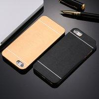 Wholesale Iphone Accessories Aluminum - Aluminum Metal Brush Soft TPU Frame Case For iphone 7 plus for iphone 6 6s  6 6S Plus  5s SE Phone Accessories