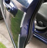 autotüren streifen großhandel-8 teile / satz Autotür Kantenschutz Buffer Trim Moulding Schützen Streifen Kratzerschutz Anti-reiben Crash Bar