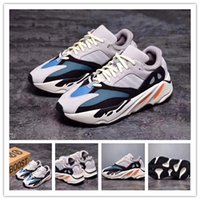 Wholesale real size women - 2017 High Quality Wave Runner 700 Real Boost Womens Mens Running Shoes Design By Kanye West Season5 700s Sneakers size 36-46 Christmas gift