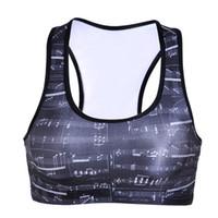 Wholesale Elastic Body Shirt - Jogging Yoga Bras Trainning 3D Print T-shirt Elastic Workout Sport Vest Y-Strap Quakeproof Tank Tops Body Sculpting Sleeveless Garment LNSsb