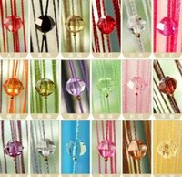 Wholesale Beaded Dividers - New Arrive Acrylic Beaded String Curtain Fly Insect Door Screen Divider Window Blind Drape