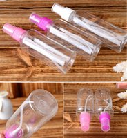 Wholesale Cosmetic Airless Pumps - 100ML Colorful PTE Spray Bottle Perfume Bottles airless pump bottle cosmetic plastic spray bottle perfume bottle atomizer