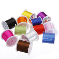 Wholesale Making Jewelry Elastic Cord - 1mm 1Roll Strong Stretchy Elastic String Cord Thread For DIY Jewelry Making
